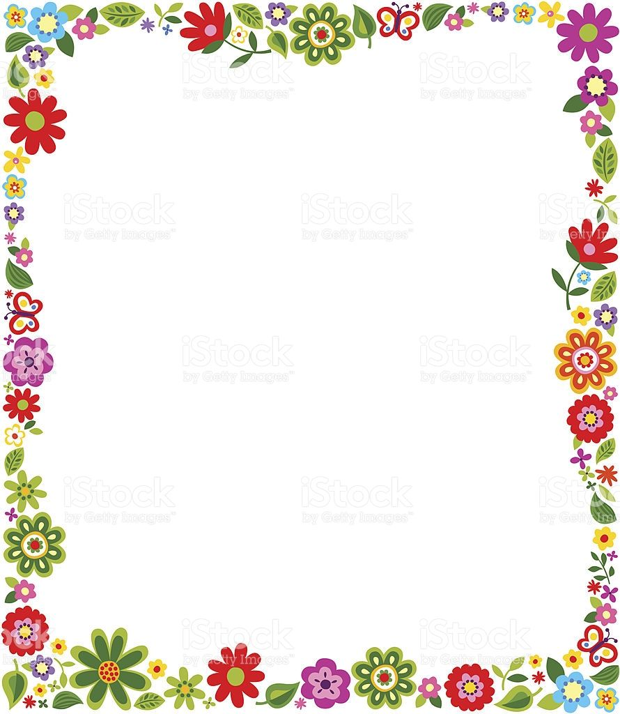 Border Frame With Floral Pattern Vector Id162721677 890 1024 Flower Border Floral Pattern Vector Clipart Frames Free