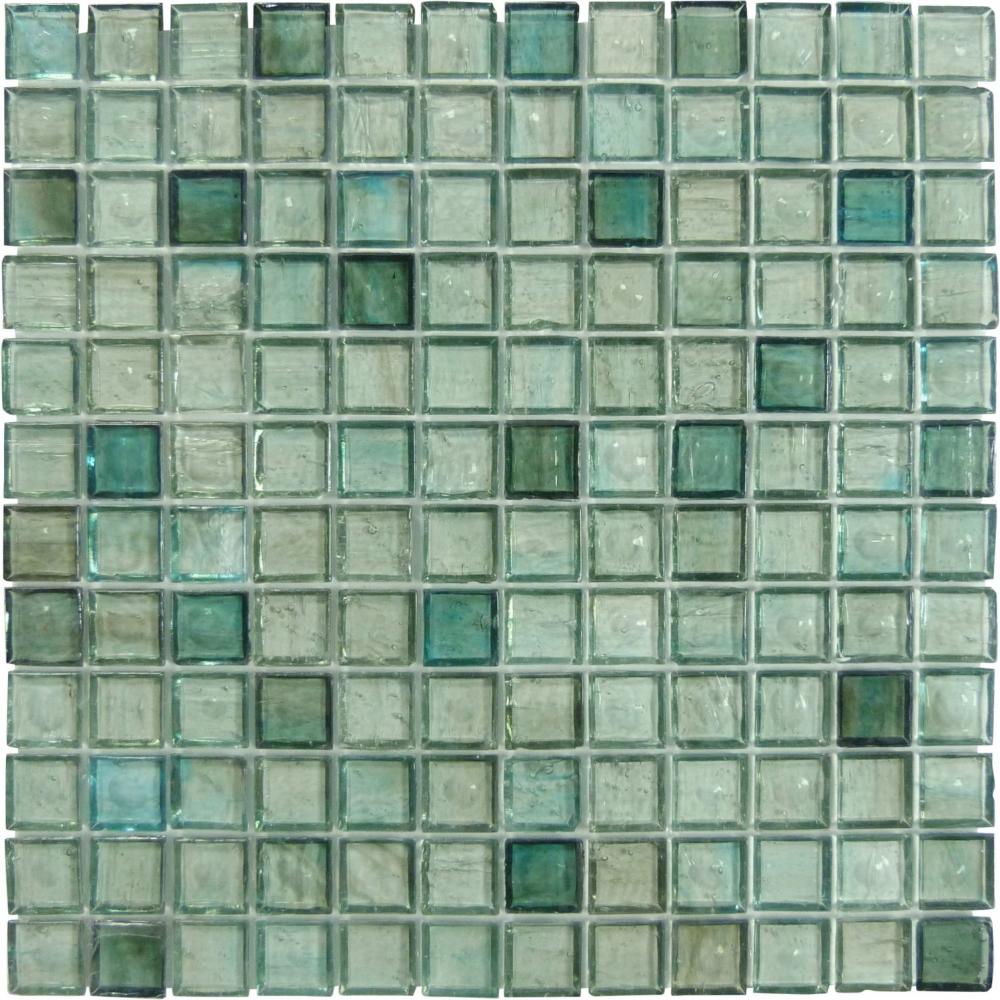 Hirsch 1 X 1 Green Glass Square Tile Glossy Jm0006 Glass Tile Green Glass Blue Glass Tile