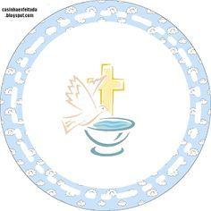Kit Festa Batizado Menino Para Imprimir Gratis Batizado Menino