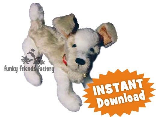 Jake the Puppy Fully Jointed INSTANT DOWNLOAD Sewing Pattern PDF