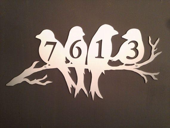 Custom House Address Number Metal Sign - Bird Art -Address numbers - Custom Address sign on Etsy, $101.55 CAD