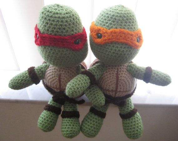 Ninja Turtle Crochet Pattern от NixayaCrafts на Etsy, $3.99