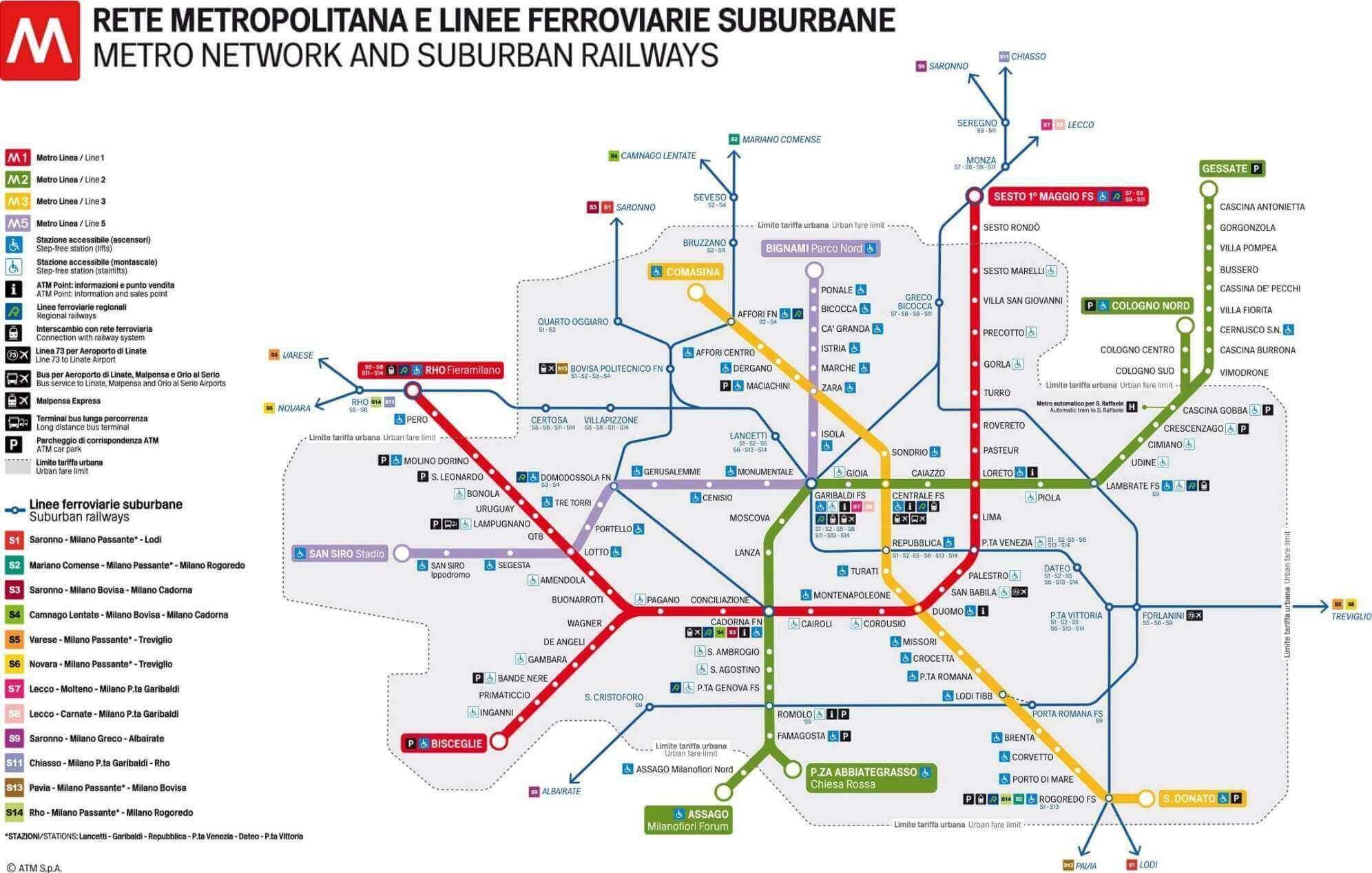 Cartina Metro Milano Pdf.Milano Cartina Metro