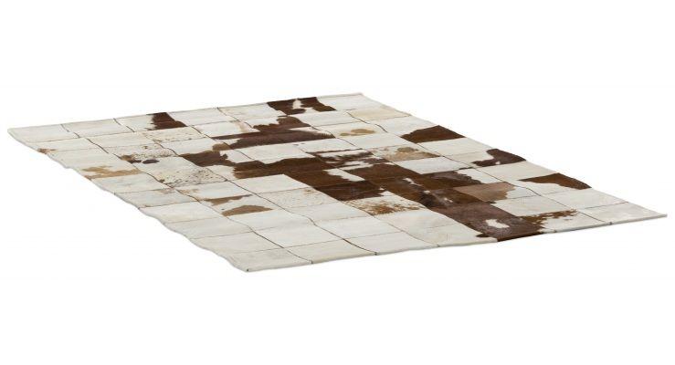 Vloerkleed siamun ii echte koeienhuid bruin wit 160 x 220 project