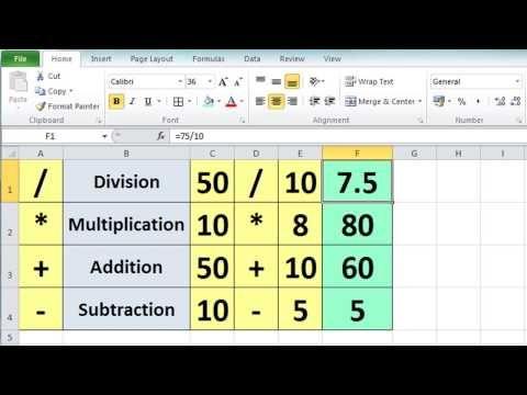 ▷ Excel 2010 Tutorial For Beginners #3 - Calculation Basics - microsoft spreadsheet program crossword