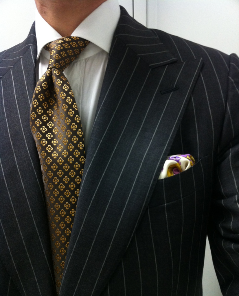 Tom Ford Borrelli shirt Charvet tie Vintage Gianni Versace Barocco square.  Business Quotes Men s ... d42daa533d8