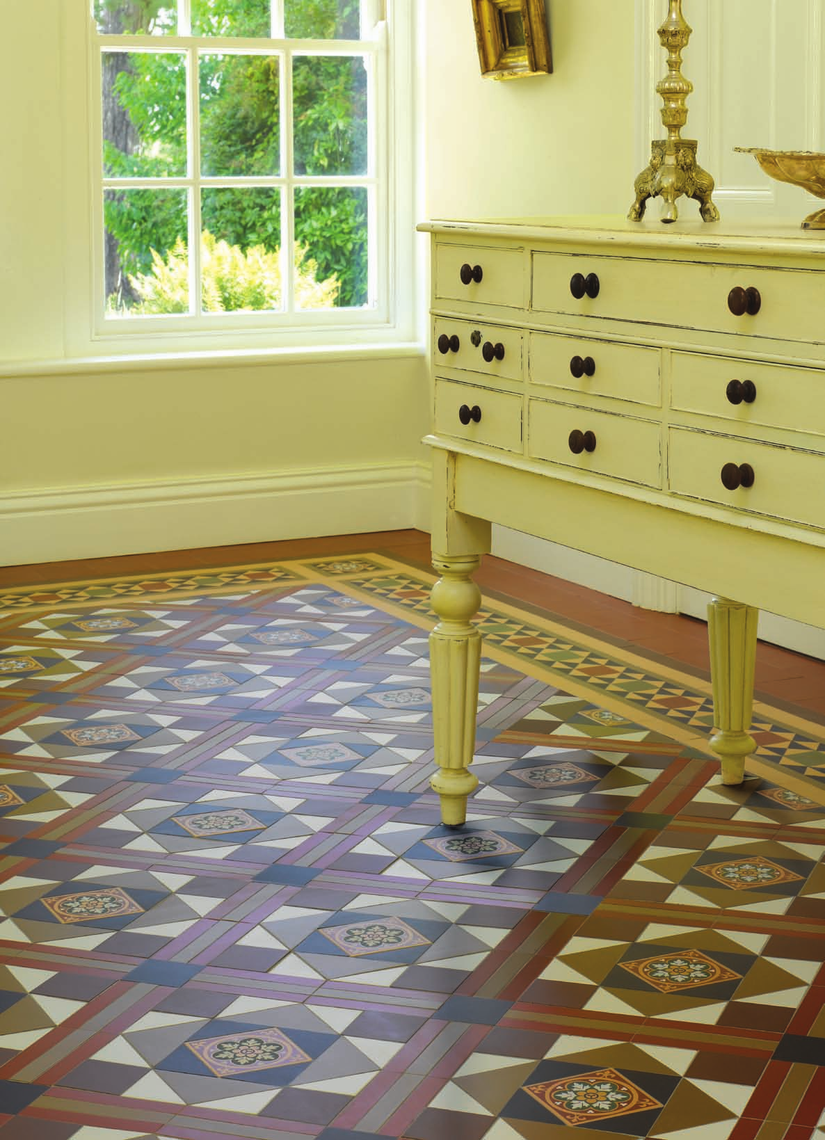 Victorian Floor Tile Lindisfarne Pattern With Modified Stevenson