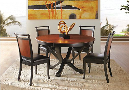 Picture Of Orland Park Black 5Pc Round Dining Room From Dining Room Sets  Furniture