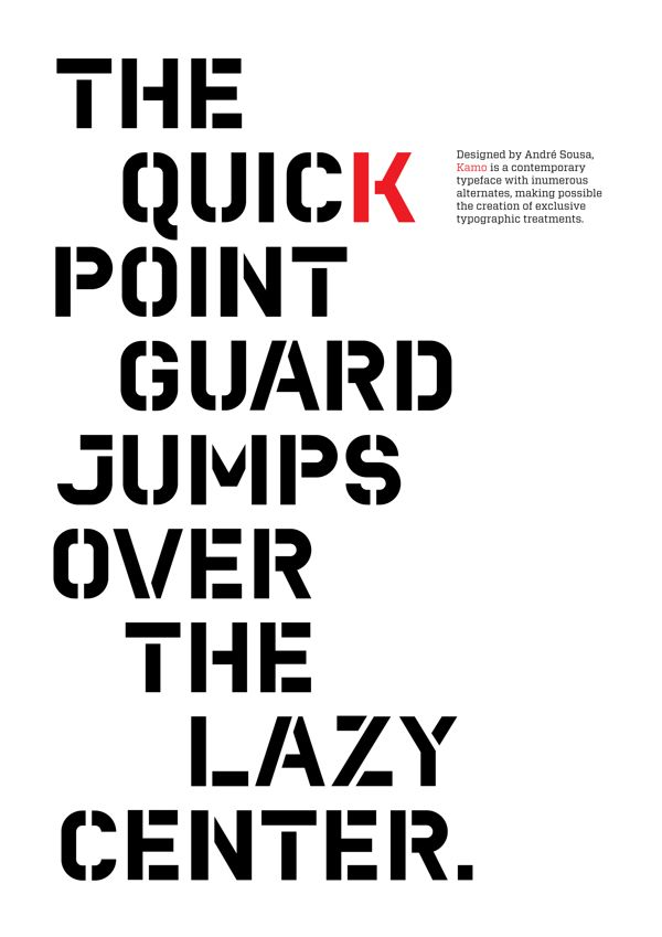 Kamo – Typeface on Behance