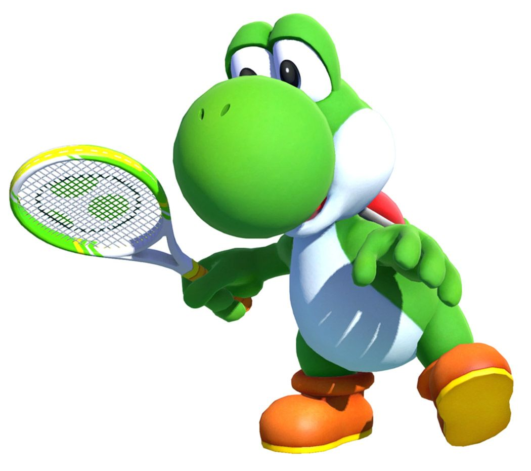 Yoshi Render From Mario Tennis Aces Illustration Artwork Gaming Videogames Characterdesign Yoshi Super Mario Art Mario
