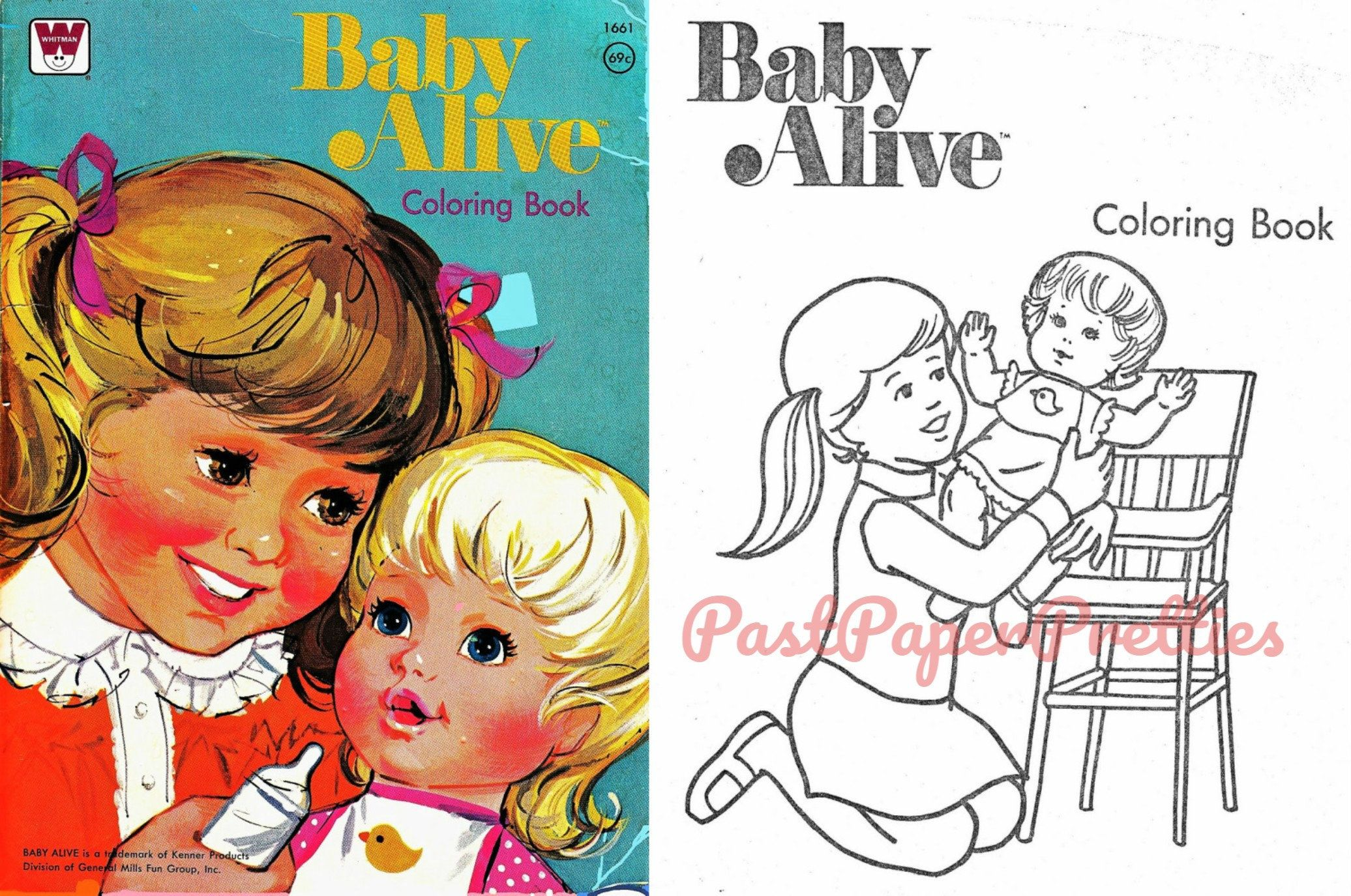 vintage printable coloring book pages baby alive doll c
