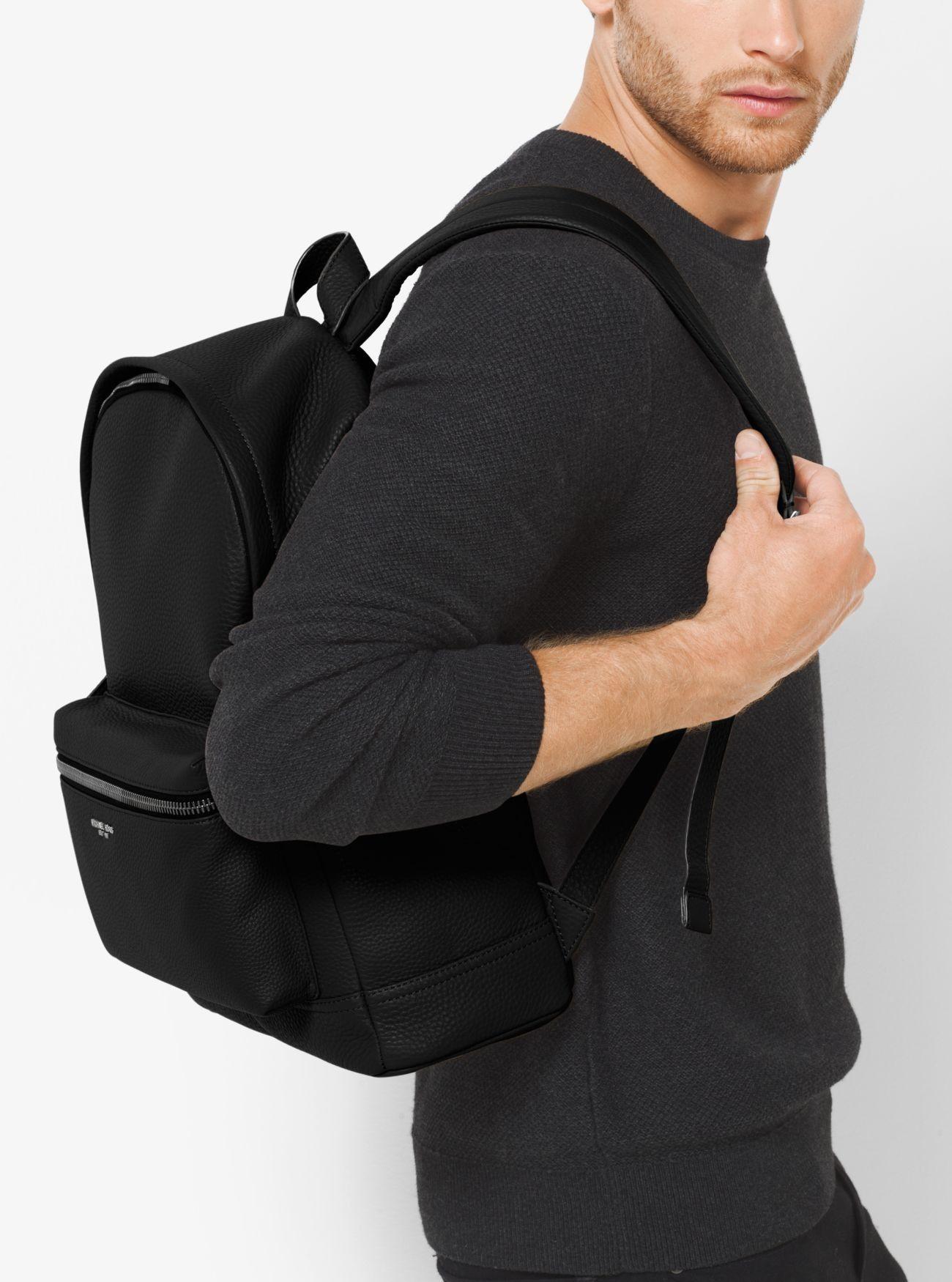 ff5ce2280975 Sale Michael Kors Black Mens Bryant Leather Backpack Cheapest | MK ...