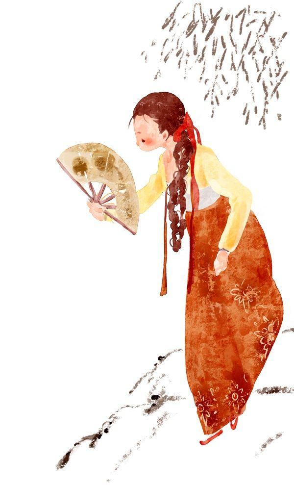 ♥ Lovely Pins Illustration ♥ // Hanbok Korea