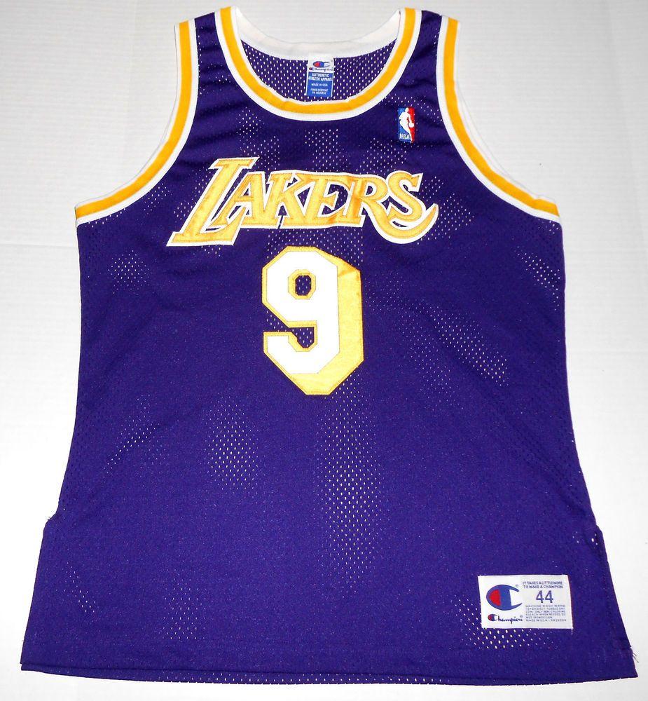 4a69d6cb1 Vintage NICK VAN EXEL Los Angeles LAKERS Champion Jersey  9 Size 44 Large  90s  Champion  LosAngelesLakers