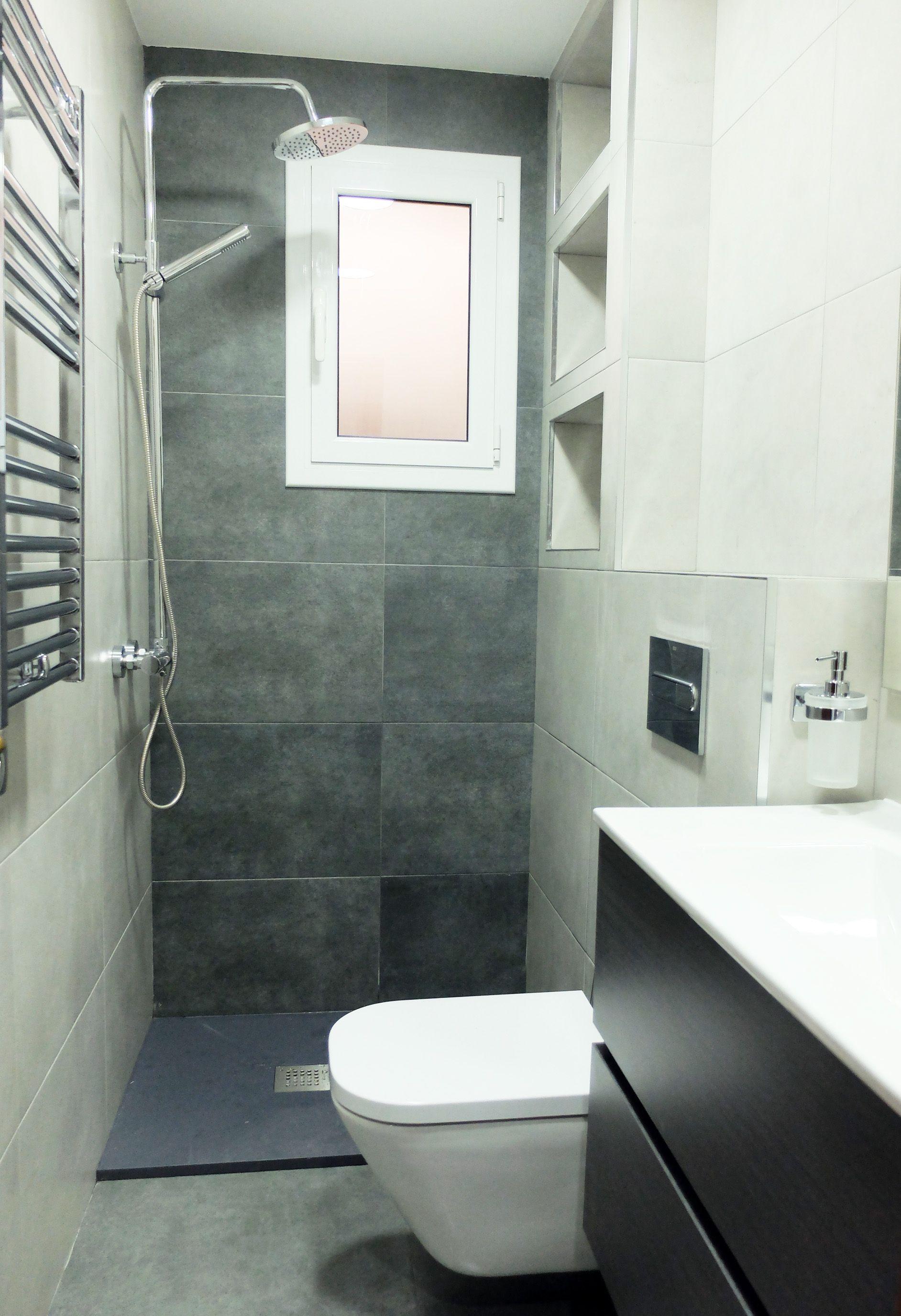 Reforma de ba o peque o pero pr ctico y elegante for Banos modernos para apartamentos