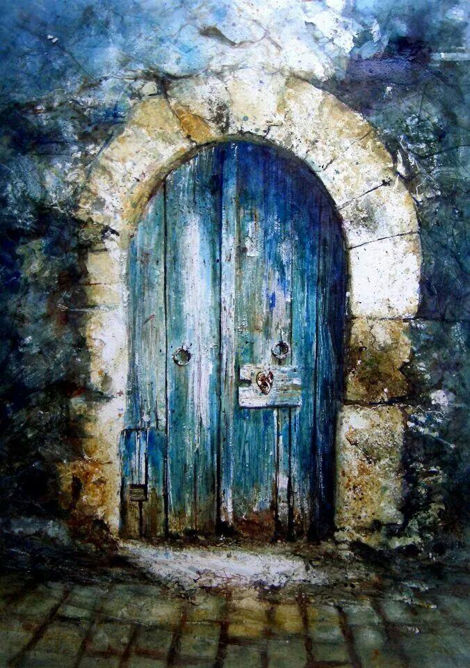 David Poxon Watercolours Pinterest Watercolor Doors