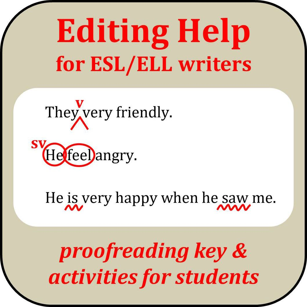 Editing Help For Esl Ell Writers Ell Writing Writing Courses Editing Marks [ 1058 x 1058 Pixel ]