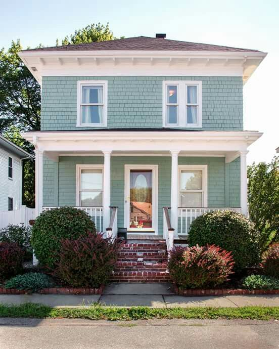 Beautiful Coastal Blue Exteriors House Paint Exterior