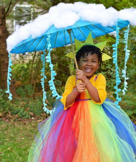 Regenbogen Kostüm selber machen
