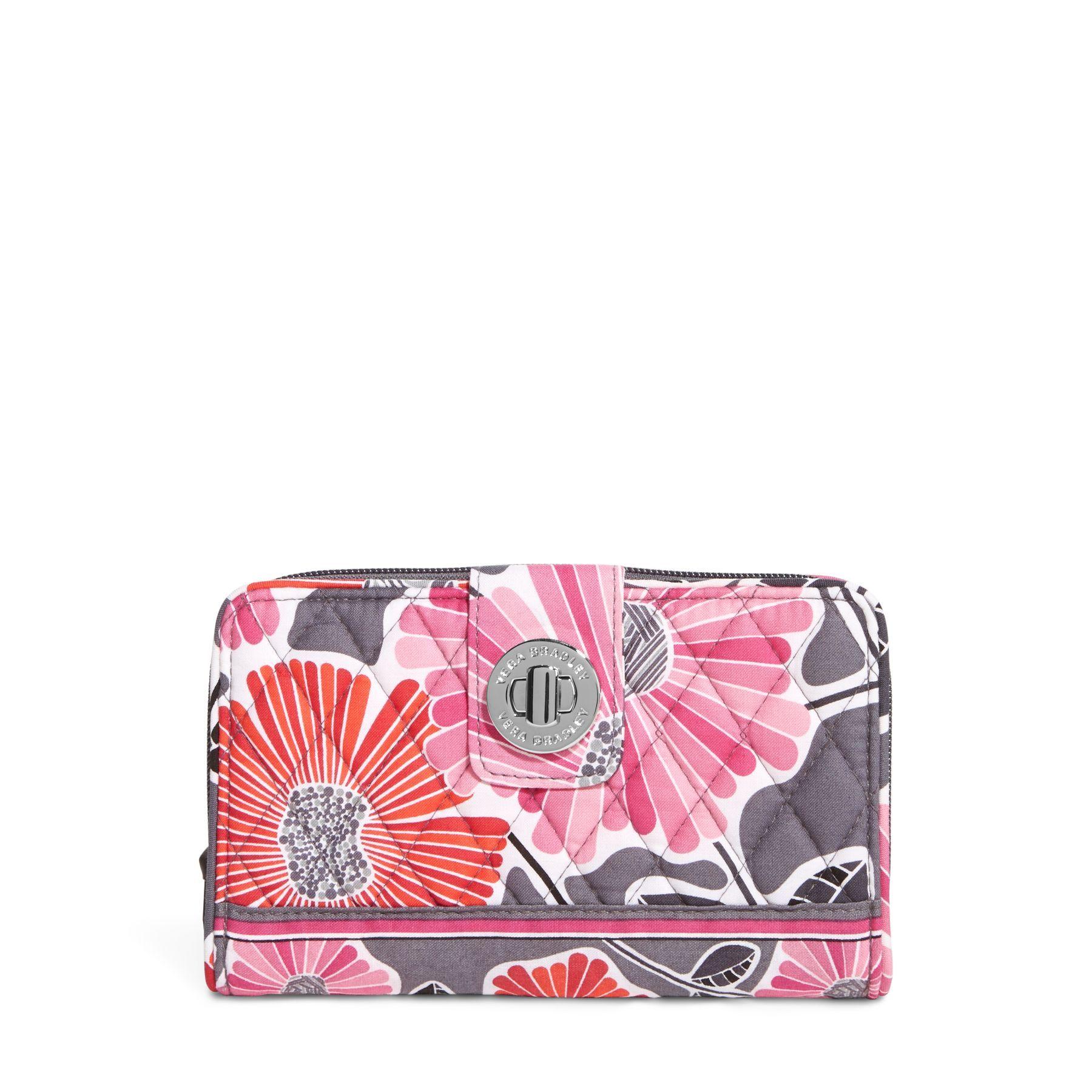 Turn Lock Wallet in Cheery Blossoms, 49 Vera Bradley