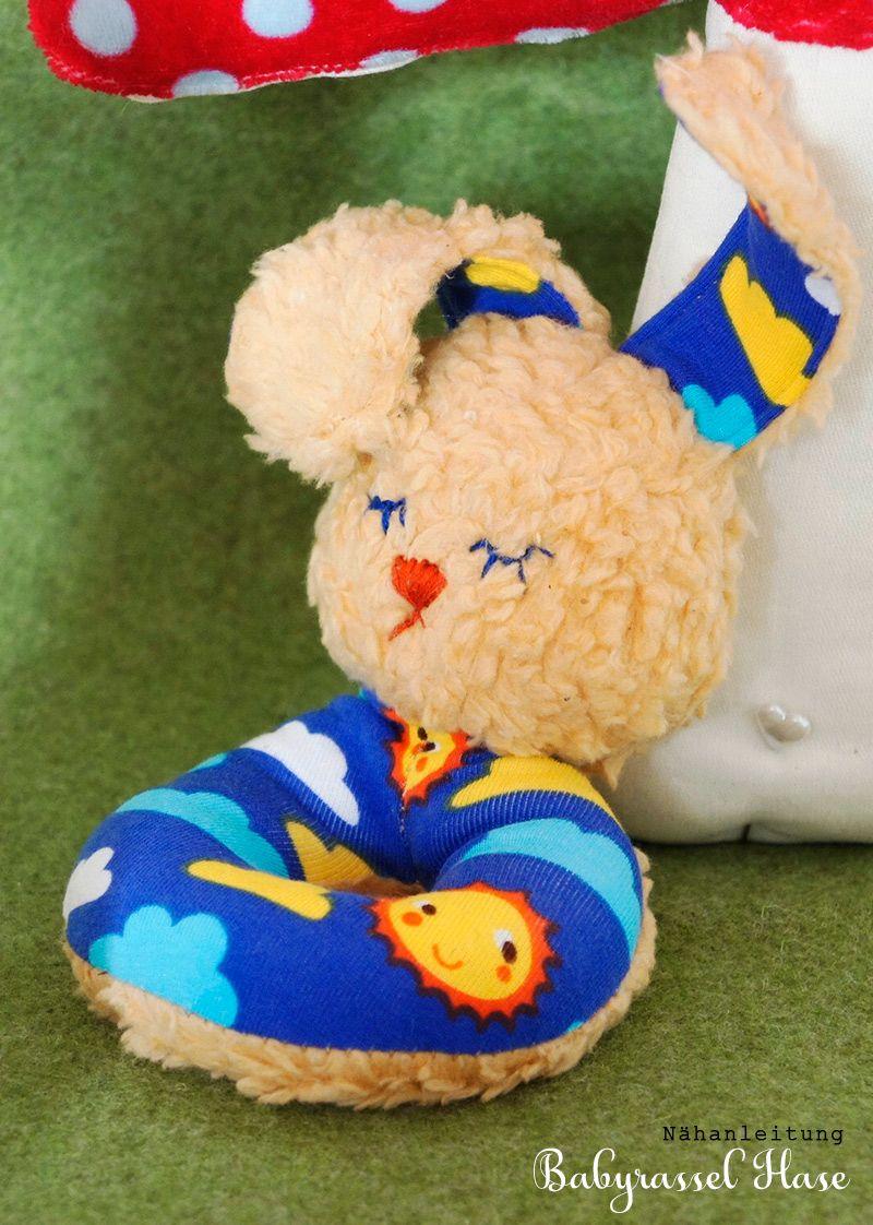 Babyrassel Hase Finn   Nähanleitung, Schritt für schritt und Hase