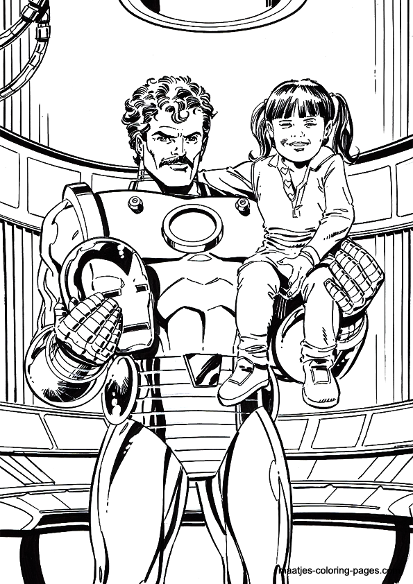 iron man tony stark iron man coloring page
