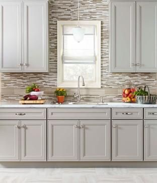 Keep Your Kitchen Light And Airy With Light Grey Cabinets And Formica 180fx  Calacatta Marble Countertops