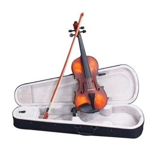 Glarry 5 Sizes Classic Solid Wood Violin 4 4 Multicolor