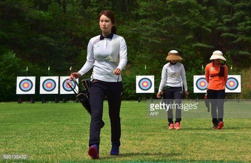 This picture taken on April 28, 2016 shows South Korean archer... #moradeebro: This picture taken on April 28, 2016 shows… #moradeebro