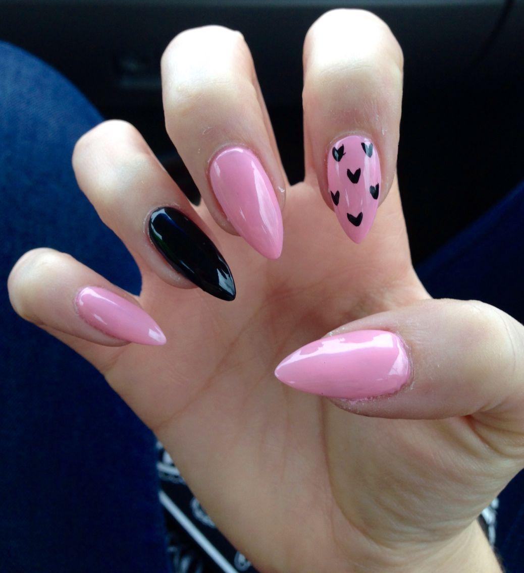 Valentine\'s Day Stiletto nails | nails | Pinterest | Stilettos ...