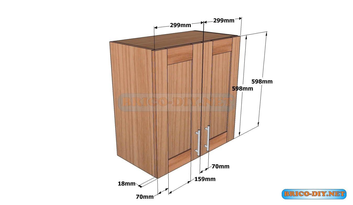 Plano hagalo usted mismo alacena de madera hola amigos for Muebles de cocina de madera