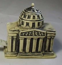 Celluloid DOMED CAPITAL BUILDING Tape Measure  ,FIGURAL,ANTIQUE ORIGINAL c1930