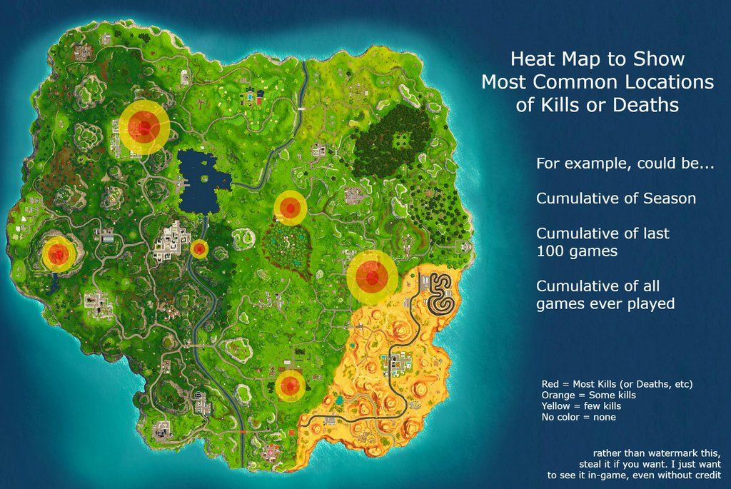 This Fortnite Heat Map Concept Would End Arguments About Where To