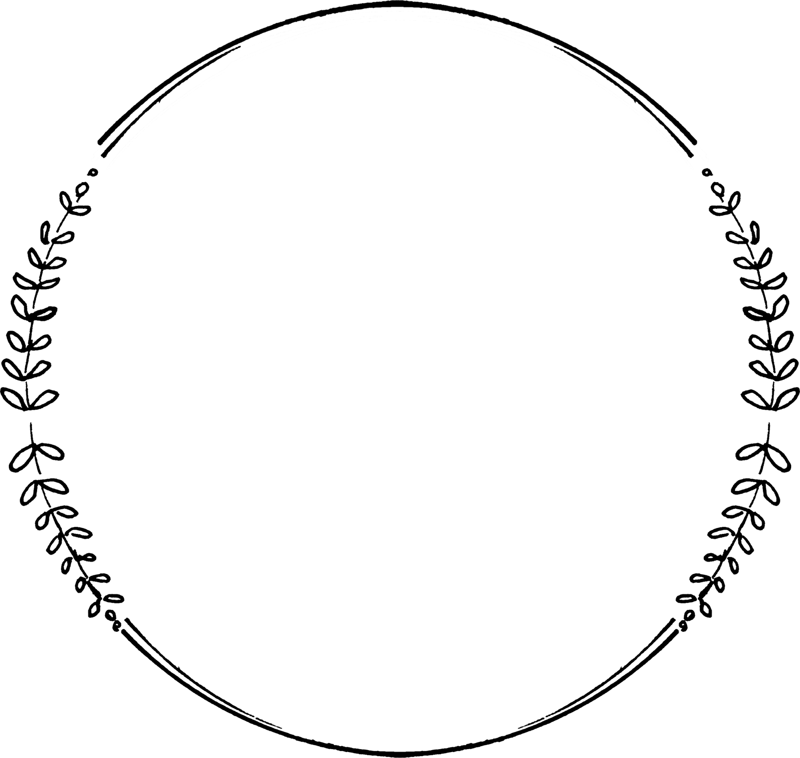 Circle Png Downloads Black Wreath Circle Frames Clip Art