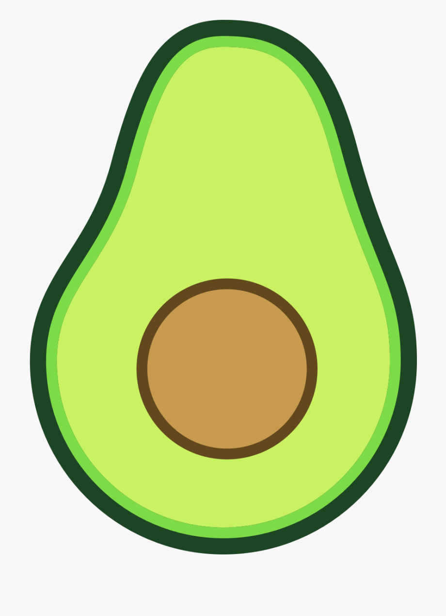 Avocado clipart cute. Image cartoon png free in 2020