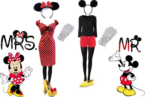 """""""Mickey & Minnie Mouse"""" by laurenc16 ❤ liked on Polyvore"""
