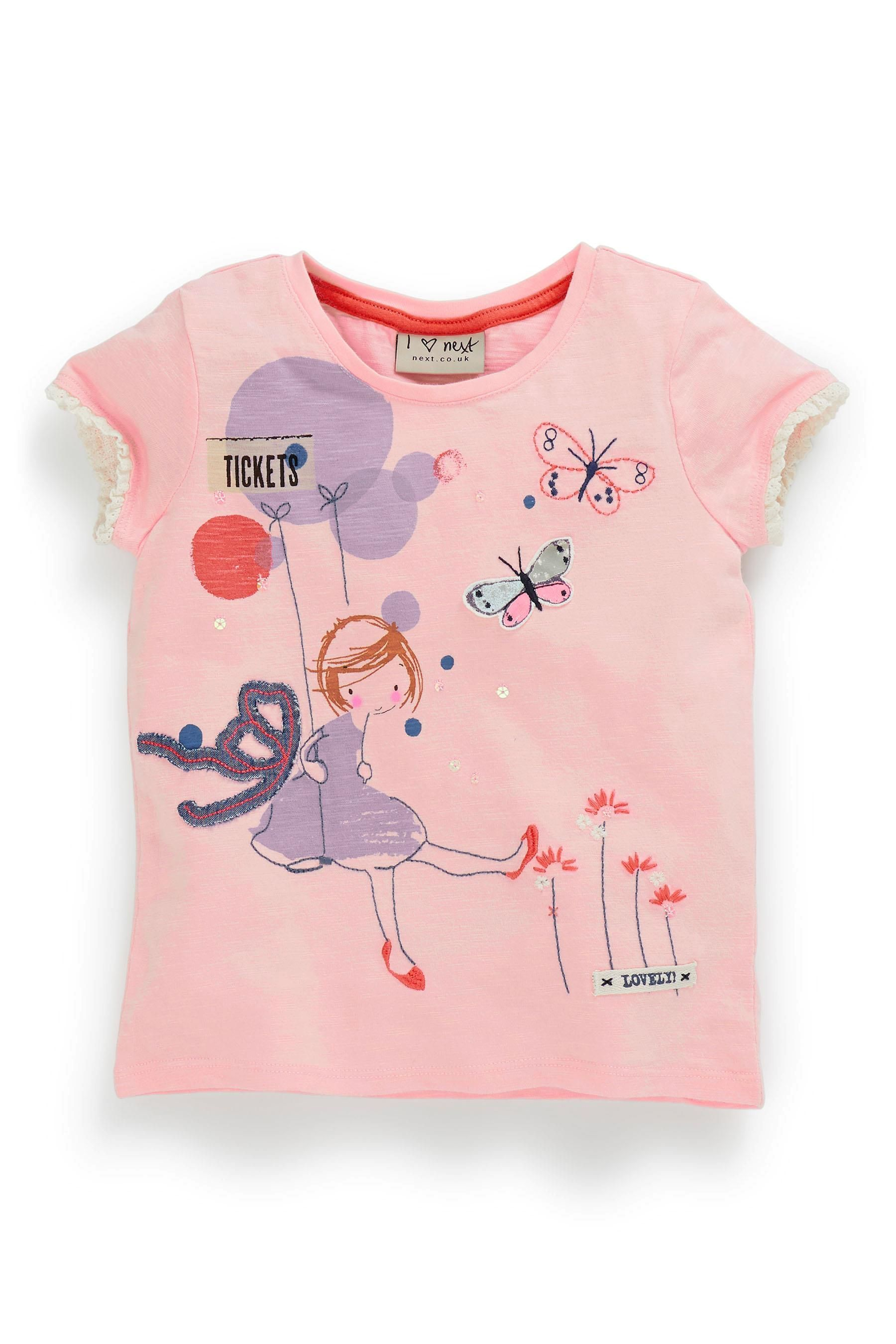 Buy Pink Character Girl Top (3mths-6yrs) from the Next UK online shop