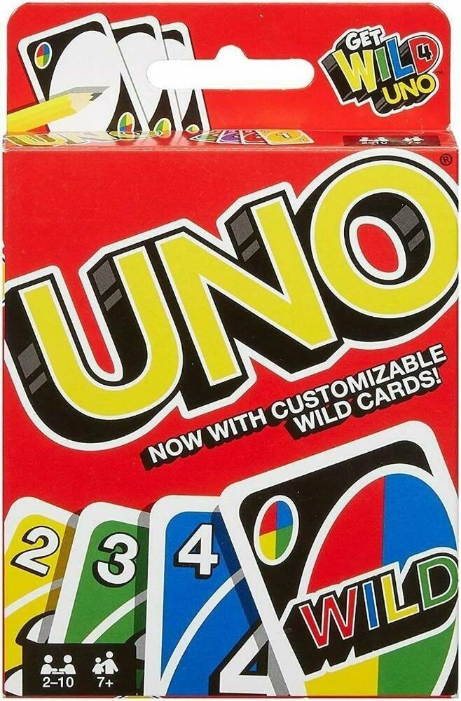 2015 Mattel Get Wild 4 UNO Card Game Customizable Wild