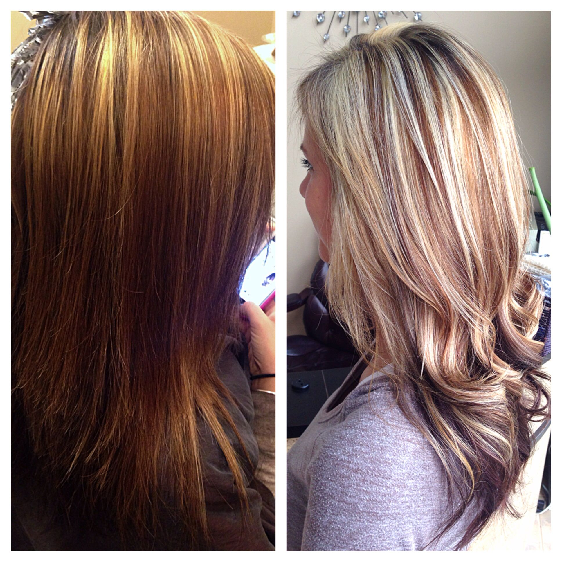 Beforeafter Highlights With Honey Lowlights 5gb 6gb 20 Vol Styles