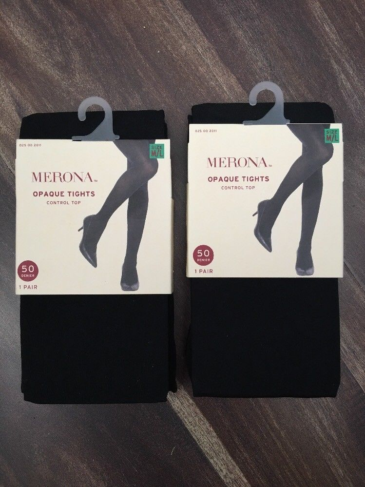 356b7228c9b NEW Merona Women s Black Opaque Tights Control Top 50 Denier M L - Lot 2  Pairs  fashion  clothing  shoes  accessories  womensclothing  hosierysocks  (ebay ...