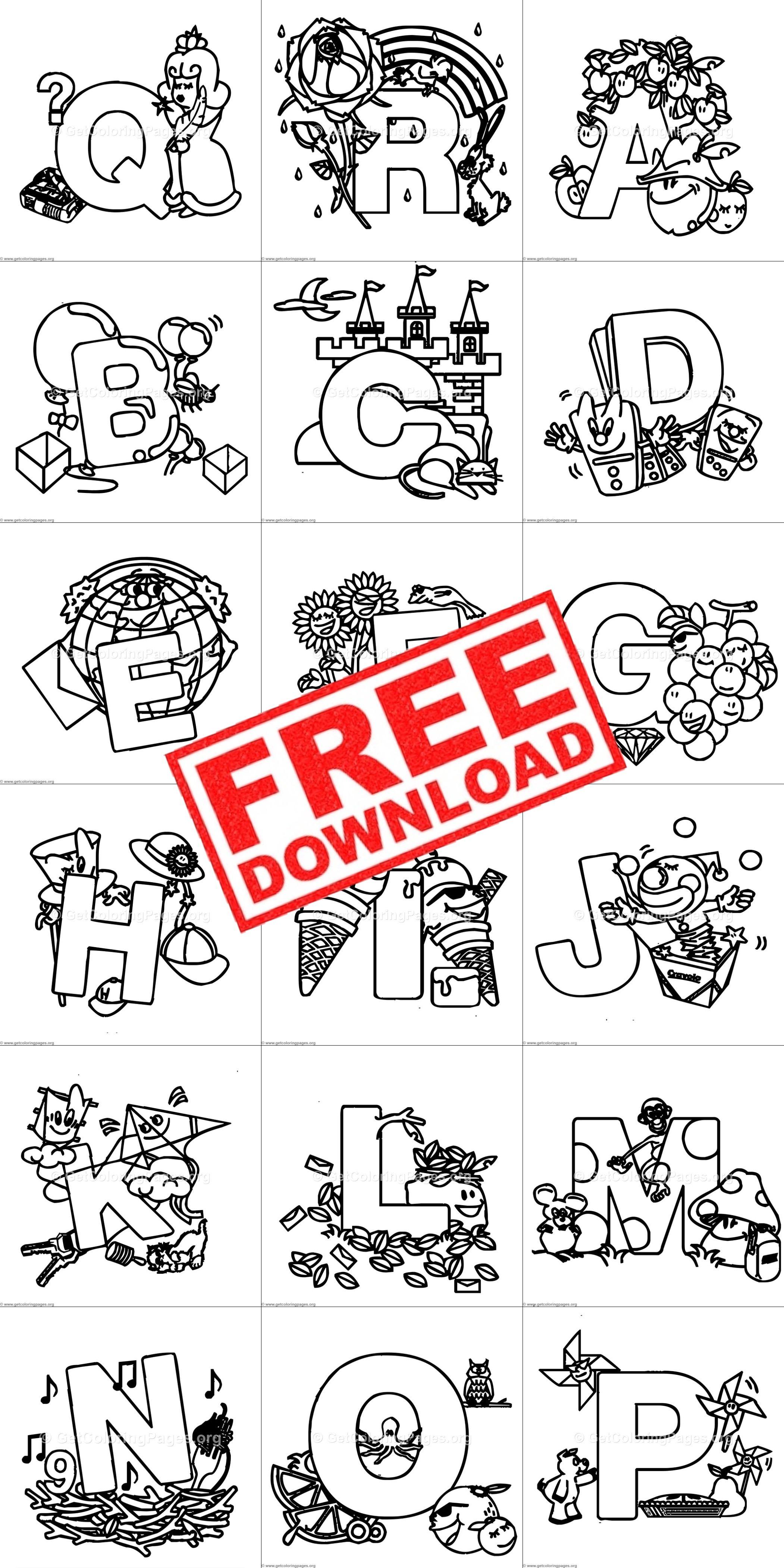 Cute Alphabet Coloring Pages Free Alphabet Coloring Pages Alphabet Coloring Cute Alphabet