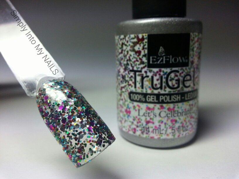 TruGel EZ Flow Let\'s Celebrate | Nails:) | Pinterest | Swatch