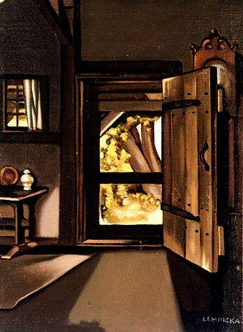 tamara de lempicka 1898 1980 the studio door 1941. Black Bedroom Furniture Sets. Home Design Ideas