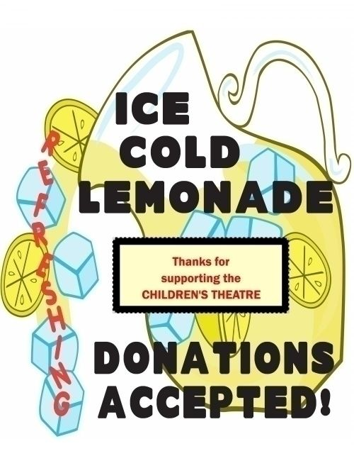 Lemonade Stand Poster Designs : Make a lemonade sale poster support children s theatre