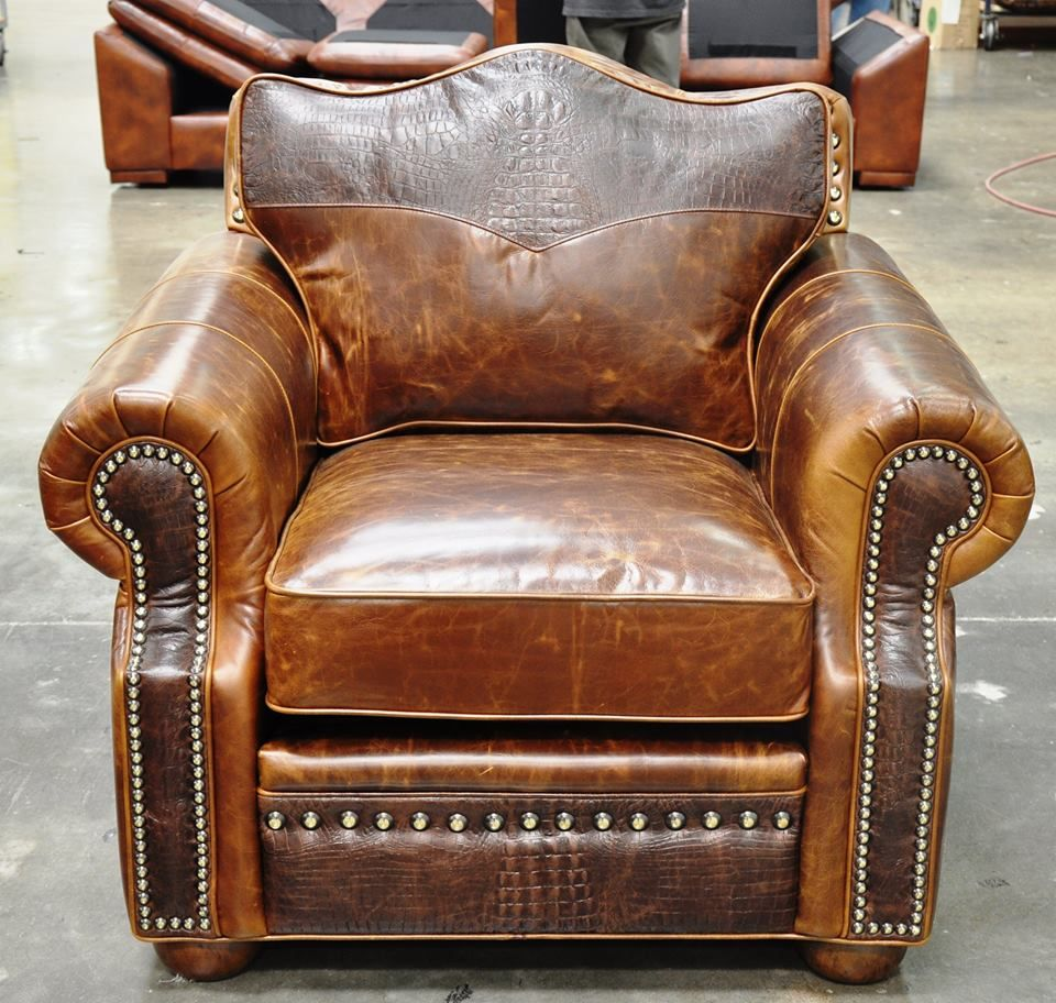 Rustic Leather Chairs Stetson Chair In 2019 Western Furniture Western Furniture