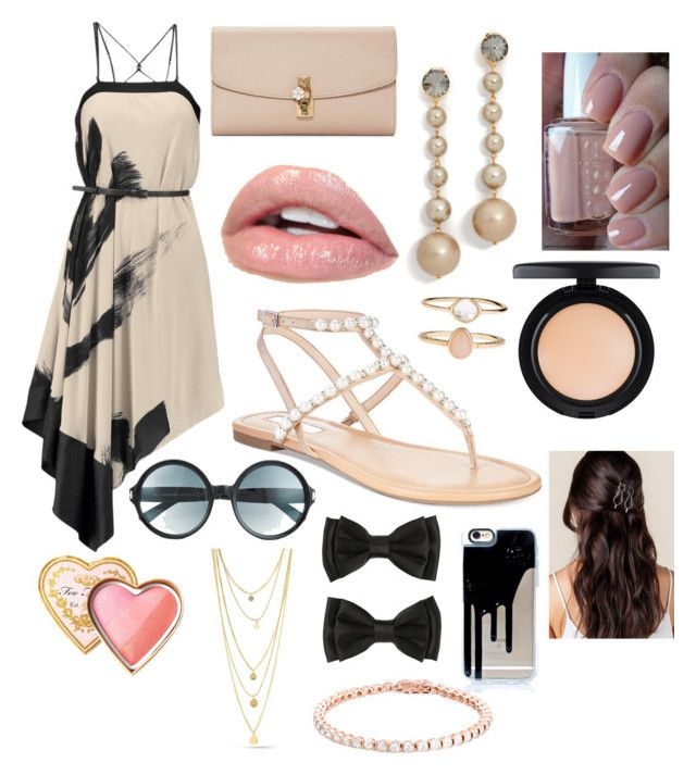 First day of Summer flirt. by houslanderl on Polyvore featuring polyvore, beauty, MAC Cosmetics, Too Faced Cosmetics, Tom Ford, Marni, Accessorize, Dolce&Gabbana, Halston Heritage, INC International Concepts and Essie