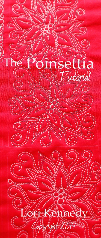 The Poinsettia-A Free Motion Quilt Tutorial   Pinterest   Navidad