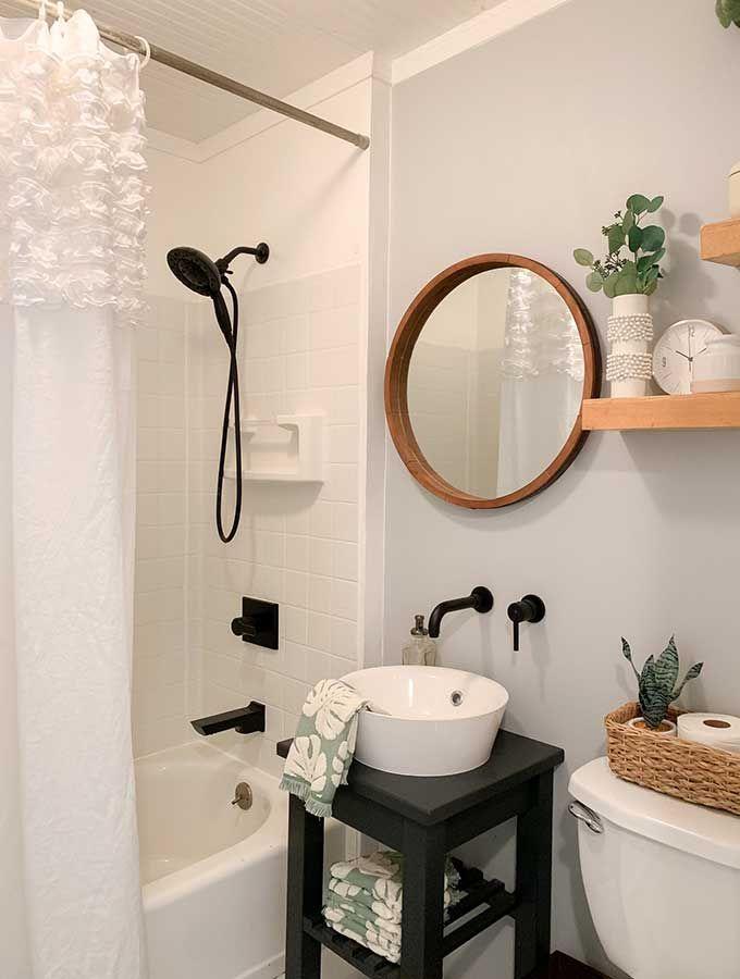 Small Bathroom Makeover Ideas Hallstrom Home Guest Bathroom Small Bathroom Makeover Small Bathroom Makeover