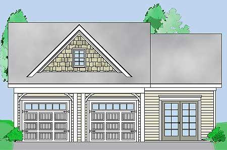 Plan 29855RL 2 Bay Garage with Storage – 2 Bay Garage Plans