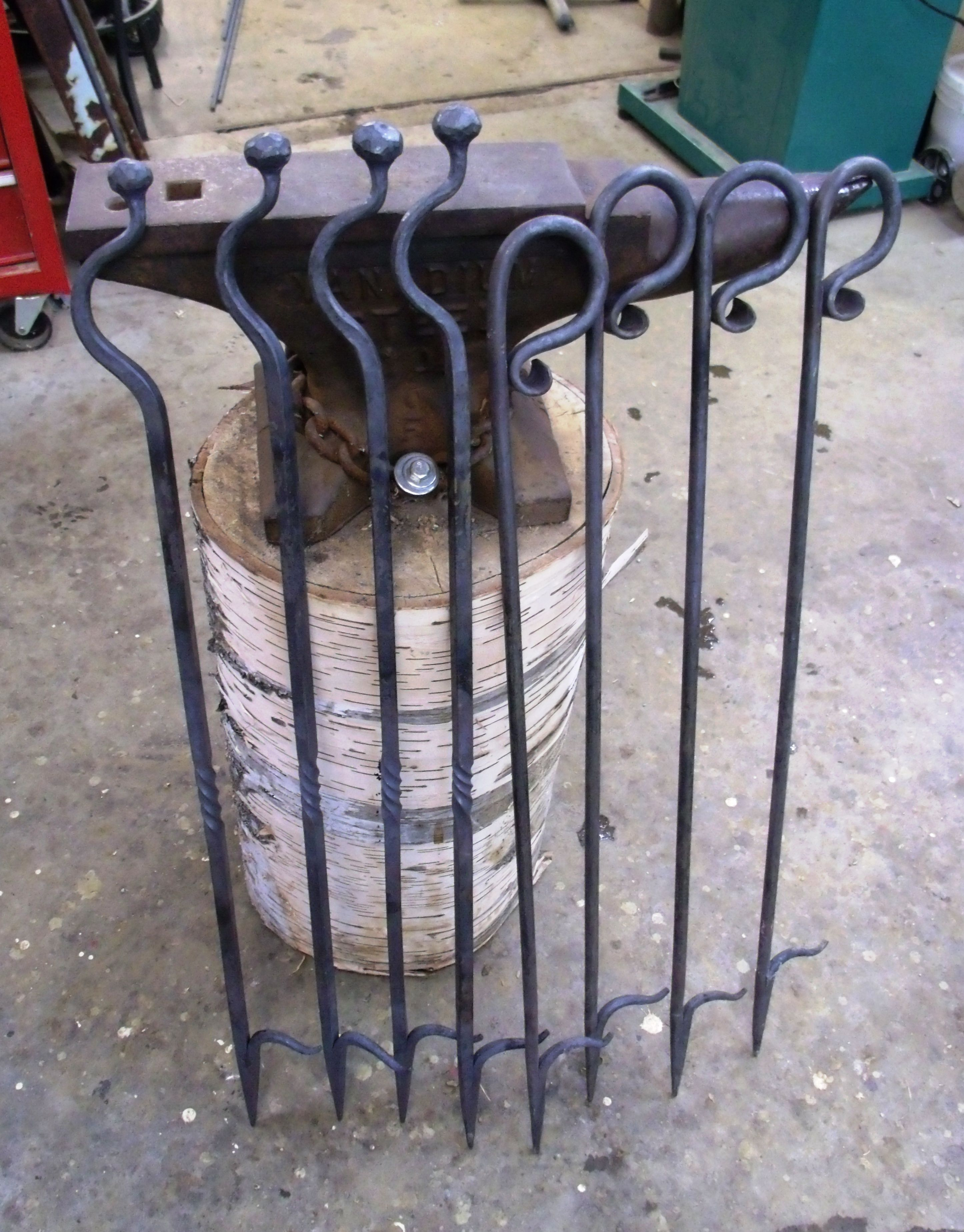 blacksmith projects. fireplace pokers made in our shop this week. blacksmith projects